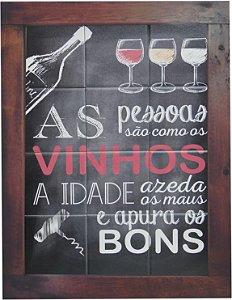 3093AM-042 Quadro de azulejo - Vinhos