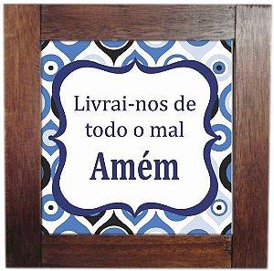 3094AP-013 Quadro de azulejo - Amém