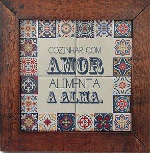 3094AP-014 Quadro de azulejo - Amor