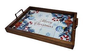 3096PM-037 Bandeja de Azulejo - Merry Christmas