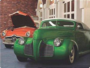 1221 Placa de Metal - Hot verde e laranja