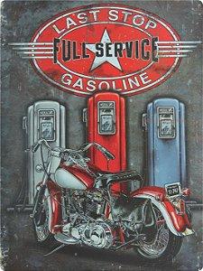 1222 Placa de Metal - Bombas de gasolina