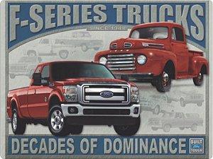 1232 Placa de Metal - Pick Ups Ford