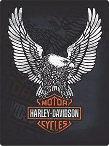 1265 Placa de Metal - Harley Águia