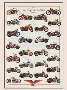 1266 Placa de Metal - Harley coleção