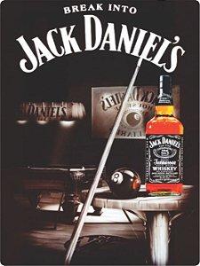 1299 Placa de Metal - Jack Daniels sinuca