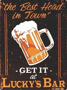 1301 Placa de Metal - Lucky's Bar