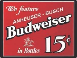 1317 Placa de Metal - Budweiser