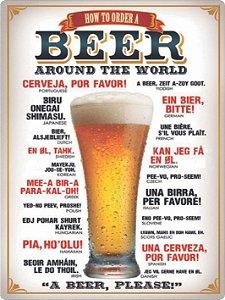 1318 Placa de Metal - Beer Around