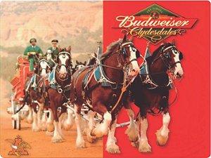 1320 Placa de Metal - Budweiser cavalos