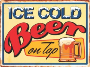 1322 Placa de Metal - Ice Cold Beer
