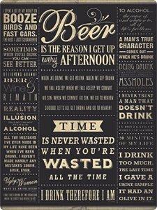 1374 Placa de Metal - Beer time