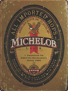 1377 Placa de Metal - Michelob