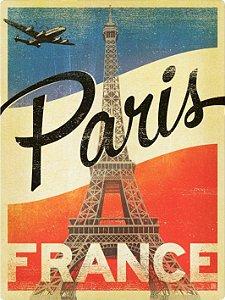 3447 Placa de Metal - Paris