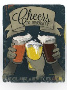 3567 Placa de Metal - Cheers Diversity