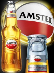 3575 Placa de Metal - Amstel garrafa