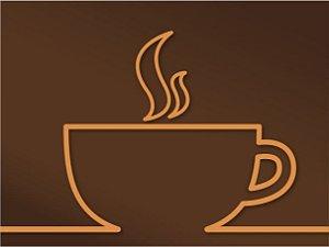3588 Placa de Metal - Tomá café