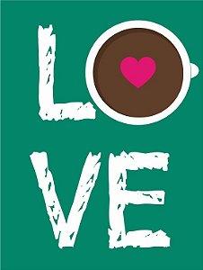3589 Placa de Metal - Love café