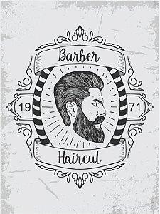 3591 Placa de Metal - Barber haircut