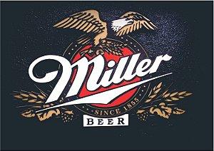 3593 Placa de Metal - Miller logo