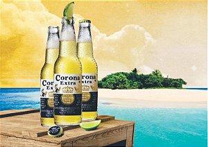 3596 Placa de Metal - Corona praia