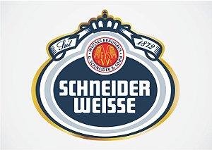 3606 Placa de Metal - Schneider Logo