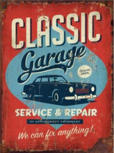3608 Placa de Metal - Classic Garage