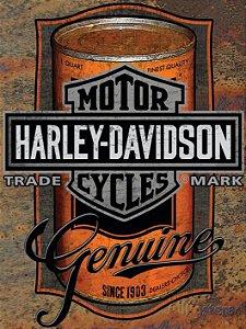 3610 Placa de Metal - Harley lata