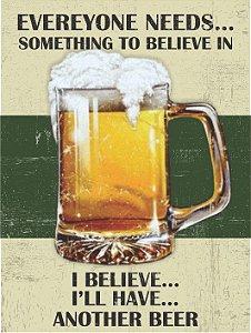 3614 Placa de Metal - Another Beer