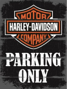 3623 Placa de Metal - Harley Parking Only