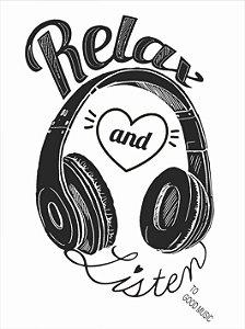 3654 Placa de Metal - Relax