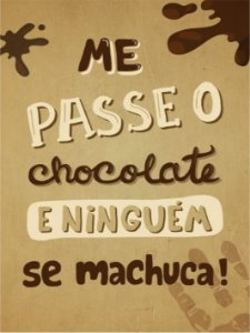 3672 Placa de Metal - Chocolate