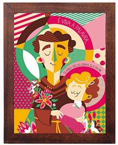 3093PG-034 Quadro Poster - Santo Antônio