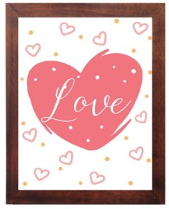 3093PG-047 Quadro Poster - Love