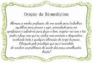1760-003 Placa de oração profissão - Biomedicina