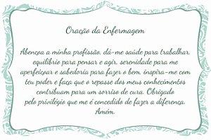 1760-005 Placa de oração profissão - Enfermagem