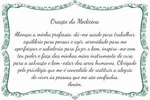 1760-008 Placa de oração profissão - Medicina