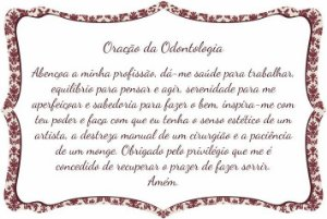 1760-009 Placa de oração profissão - Odontologia