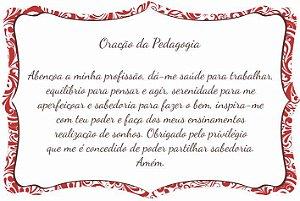 1760-014 Placa de oração profissão - Pedagogia