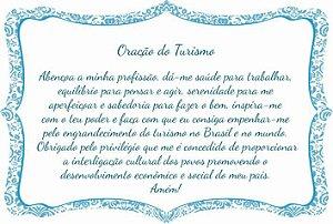 1760-018 Placa de oração profissão - Turismo