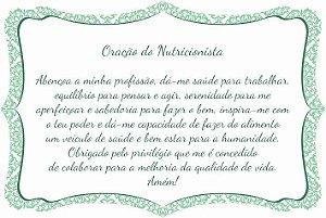 1760-020 Placa de oração profissão - Nutricionista