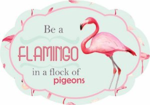1704-009 Placa MDF - Flamingo