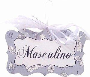 1706-005 Placa MDF - Banheiro Masc. Azul