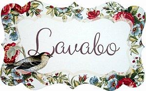 1712G Placa MDF - Lavabo pássaros