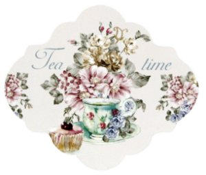 1739-001 Placa MDF - Tea time