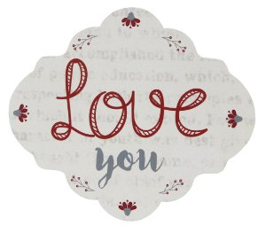 1739-003 Placa MDF - Love you