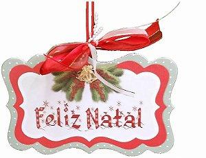 1797 Placa MDF - Natal festivo