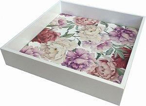 02-34 Bandeja laqueada - Flores color