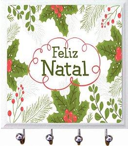 1470-034 Porta chaves Azulejo - Folhas Natal