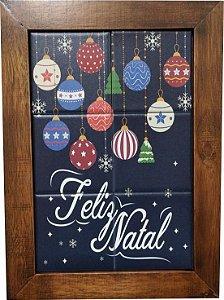3093AM-072 Quadro de azulejo - Feliz Natal